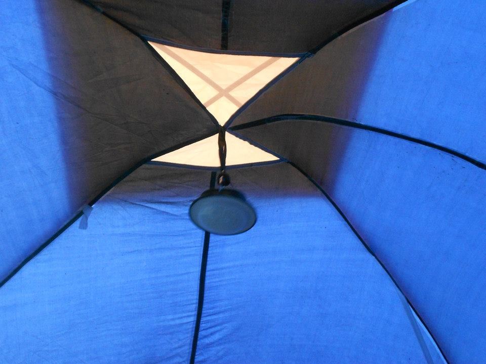Downward facing tent lantern