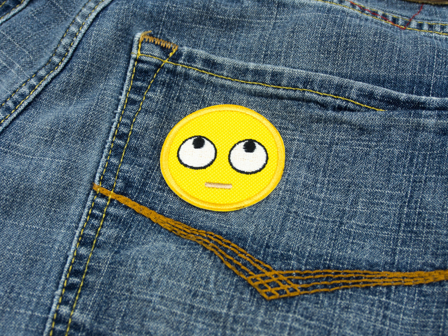 Eyeroll emoji patch