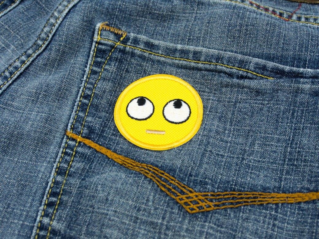 Eyeroll emoji patch