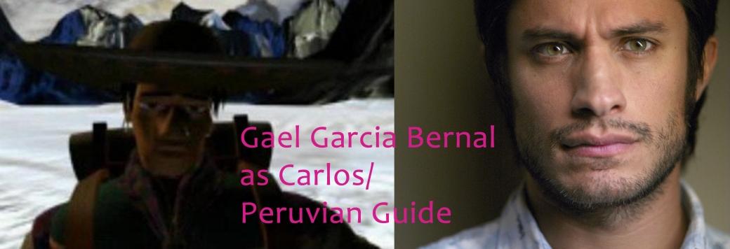 Gael Garcia Bernal as Carlos Peruvian Guide Tomb Raider