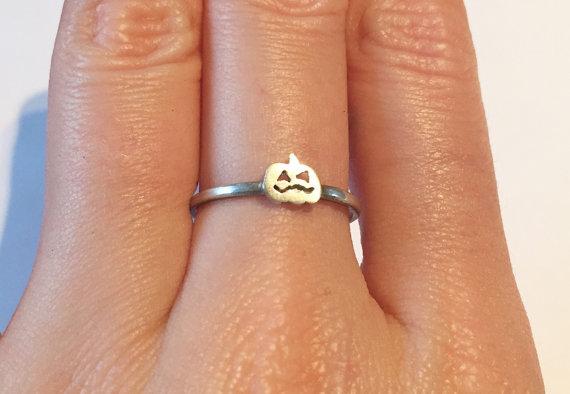 Pumpkin silver ring
