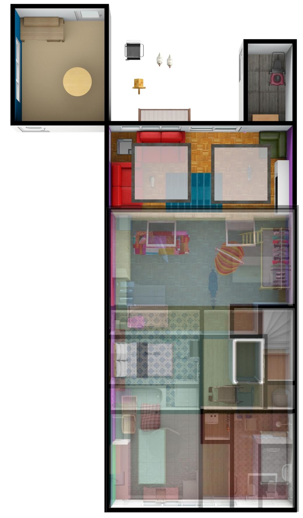Floors merged wider