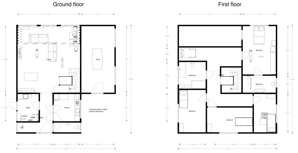 Ground and First Floor Mezzanine plan