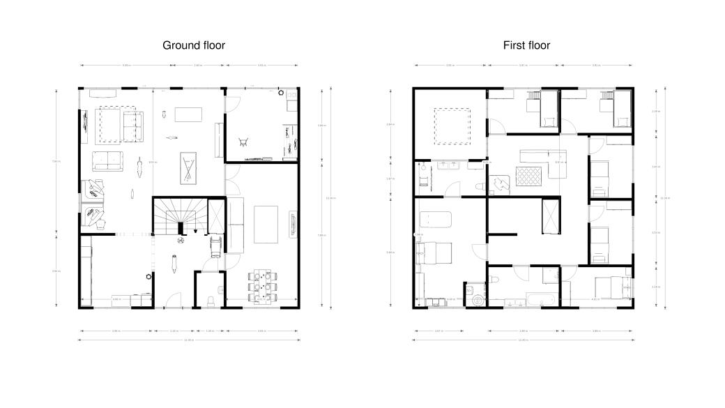 Multigenerational ground and first floor