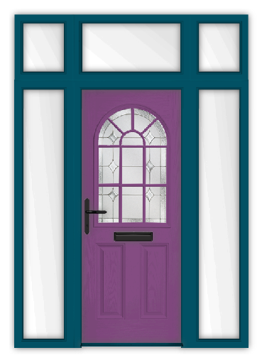 Purple door 1