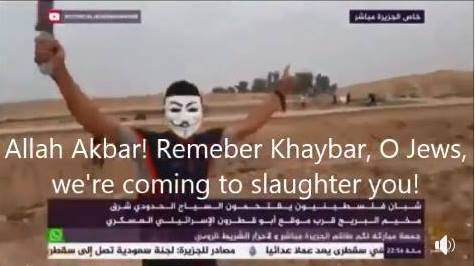 gaza rioters want to kill jews
